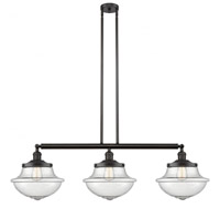 Innovations Lighting 213-OB-G544 Large Oxford 3 Light 42 inch Oil Rubbed Bronze Island Light Ceiling Light Franklin Restoration