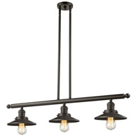 Innovations Lighting 213-OB-M5 Railroad 3 Light 36 inch Oiled Rubbed Bronze Island Light Ceiling Light