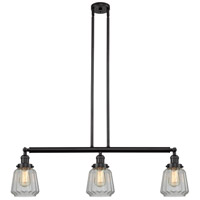 Innovations Lighting 213-OB-S-G142 Chatham 3 Light 39 inch Oil Rubbed Bronze Island Light Ceiling Light Franklin Restoration