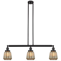Innovations Lighting 213-OB-S-G146 Chatham 3 Light 39 inch Oil Rubbed Bronze Island Light Ceiling Light Franklin Restoration