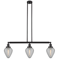 Innovations Lighting 213-OB-S-G165 Geneseo 3 Light 38 inch Oil Rubbed Bronze Island Light Ceiling Light Franklin Restoration