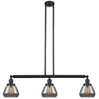 Innovations Lighting 213-OB-S-G173-LED Fulton LED 39 inch Oil Rubbed Bronze Island Light Ceiling Light Franklin Restoration