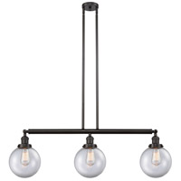 Innovations Lighting 213-OB-S-G202-8 Large Beacon 3 Light 41 inch Oil Rubbed Bronze Island Light Ceiling Light Franklin Restoration