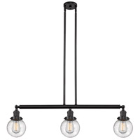 Innovations Lighting 213-OB-S-G204-6-LED Beacon LED 39 inch Oil Rubbed Bronze Island Light Ceiling Light Franklin Restoration