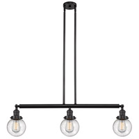 Innovations Lighting 213-OB-S-G204-6 Beacon 3 Light 39 inch Oil Rubbed Bronze Island Light Ceiling Light Franklin Restoration
