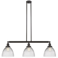 Innovations Lighting 213-OB-S-G222 Seneca Falls 3 Light 39 inch Oil Rubbed Bronze Island Light Ceiling Light Franklin Restoration
