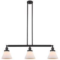Innovations Lighting 213-OB-S-G41 Large Cone 3 Light 40 inch Oil Rubbed Bronze Island Light Ceiling Light Franklin Restoration