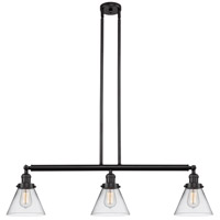 Innovations Lighting 213-OB-S-G42 Large Cone 3 Light 40 inch Oil Rubbed Bronze Island Light Ceiling Light Franklin Restoration