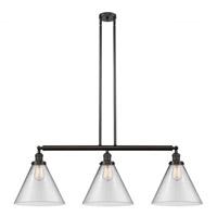 Innovations Lighting 213-OB-S-G42-L-LED X-Large Cone LED 44 inch Oil Rubbed Bronze Island Light Ceiling Light Franklin Restoration