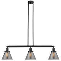 Innovations Lighting 213-OB-S-G43 Large Cone 3 Light 40 inch Oil Rubbed Bronze Island Light Ceiling Light Franklin Restoration