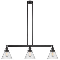 Innovations Lighting 213-OB-S-G44 Large Cone 3 Light 40 inch Oil Rubbed Bronze Island Light Ceiling Light Franklin Restoration