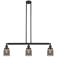 Innovations Lighting 213-OB-S-G53 Small Bell 3 Light 38 inch Oil Rubbed Bronze Island Light Ceiling Light Franklin Restoration