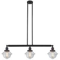 Innovations Lighting 213-OB-S-G532 Small Oxford 3 Light 40 inch Oil Rubbed Bronze Island Light Ceiling Light Franklin Restoration