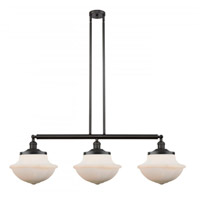 Innovations Lighting 213-OB-S-G541 Large Oxford 3 Light 42 inch Oil Rubbed Bronze Island Light Ceiling Light Franklin Restoration
