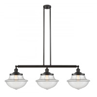Innovations Lighting 213-OB-S-G542 Large Oxford 3 Light 42 inch Oil Rubbed Bronze Island Light Ceiling Light Franklin Restoration