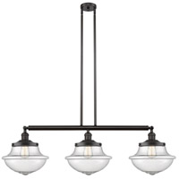 Innovations Lighting 213-OB-S-G544 Large Oxford 3 Light 42 inch Oil Rubbed Bronze Island Light Ceiling Light Franklin Restoration