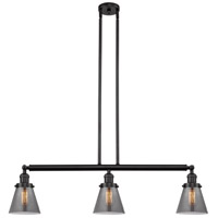 Innovations Lighting 213-OB-S-G63 Small Cone 3 Light 39 inch Oil Rubbed Bronze Island Light Ceiling Light Franklin Restoration