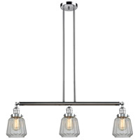 Innovations Lighting 213-PC-S-G142 Chatham 3 Light 39 inch Polished Chrome Island Light Ceiling Light