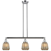 Chatham 3 Light 39 inch Polished Chrome Island Light Ceiling Light