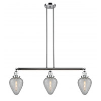 Innovations Lighting 213-PC-S-G165 Geneseo 3 Light 38 inch Polished Chrome Island Light Ceiling Light Franklin Restoration