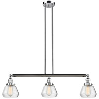 Fulton 3 Light 39 inch Polished Chrome Island Light Ceiling Light