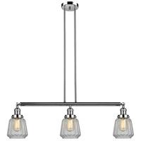 Innovations Lighting 213-PN-S-G142-LED Chatham LED 39 inch Polished Nickel Island Light Ceiling Light Adjustable