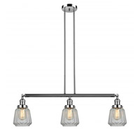 Polished Nickel Glass Chatham Island Lights
