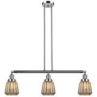 Innovations Lighting 213-PN-S-G146-LED Chatham LED 39 inch Polished Nickel Island Light Ceiling Light Adjustable