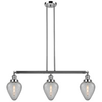 Innovations Lighting 213-PN-S-G165-LED Geneseo LED 38 inch Polished Nickel Island Light Ceiling Light Franklin Restoration