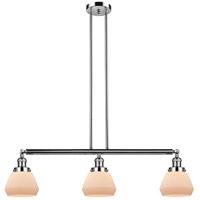 Innovations Lighting 213-PN-S-G171 Fulton 3 Light 39 inch Polished Nickel Island Light Ceiling Light Adjustable
