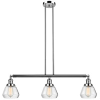 Innovations Lighting 213-PN-S-G172 Fulton 3 Light 39 inch Polished Nickel Island Light Ceiling Light Adjustable