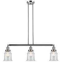 Innovations Lighting 213-PN-S-G182 Canton 3 Light 39 inch Polished Nickel Island Light Ceiling Light Adjustable