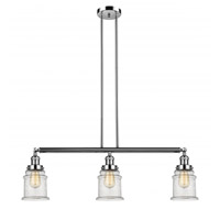 Innovations Lighting 213-PN-S-G184 Canton 3 Light 39 inch Polished Nickel Island Light Ceiling Light Franklin Restoration