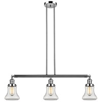 Innovations Lighting 213-PN-S-G192 Bellmont 3 Light 39 inch Polished Nickel Island Light Ceiling Light Adjustable