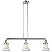 Innovations Lighting 213-PN-S-G194 Bellmont 3 Light 39 inch Polished Nickel Island Light Ceiling Light Adjustable