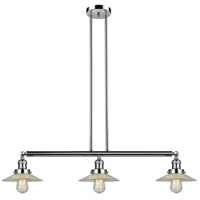Innovations Lighting 213-PN-S-G2 Halophane 3 Light 41 inch Polished Nickel Island Light Ceiling Light Adjustable