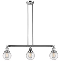 Polished Nickel Glass Beacon Island Lights