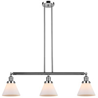 Innovations Lighting 213-PN-S-G41 Large Cone 3 Light 40 inch Polished Nickel Island Light Ceiling Light Adjustable