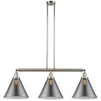 Innovations Lighting 213-PN-S-G43-L X-Large Cone 3 Light 44 inch Polished Nickel Island Light Ceiling Light Franklin Restoration