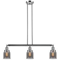 Innovations Lighting 213-PN-S-G53-LED Small Bell LED 38 inch Polished Nickel Island Light Ceiling Light Franklin Restoration