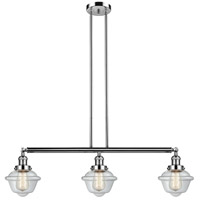 Innovations Lighting 213-PN-S-G532 Small Oxford 3 Light 40 inch Polished Nickel Island Light Ceiling Light Franklin Restoration