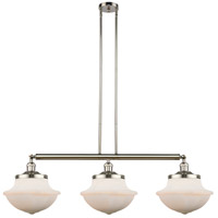 Innovations Lighting 213-PN-S-G541 Large Oxford 3 Light 42 inch Polished Nickel Island Light Ceiling Light Franklin Restoration