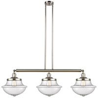 Innovations Lighting 213-PN-S-G544 Large Oxford 3 Light 42 inch Polished Nickel Island Light Ceiling Light Franklin Restoration