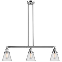 Innovations Lighting 213-PN-S-G62 Small Cone 3 Light 39 inch Polished Nickel Island Light Ceiling Light Franklin Restoration