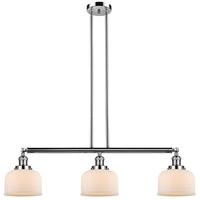 Innovations Lighting 213-PN-S-G71-LED Large Bell LED 41 inch Polished Nickel Island Light Ceiling Light Adjustable