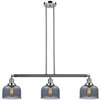 Innovations Lighting 213-PN-S-G73 Large Bell 3 Light 41 inch Polished Nickel Island Light Ceiling Light Adjustable