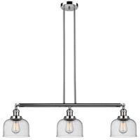 Innovations Lighting 213-PN-S-G74 Large Bell 3 Light 41 inch Polished Nickel Island Light Ceiling Light Adjustable