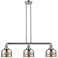 Innovations Lighting 213-PN-S-G78 Large Bell 3 Light 41 inch Polished Nickel Island Light Ceiling Light Franklin Restoration