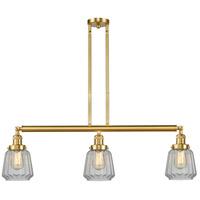 Innovations Lighting 213-SG-G142-LED Chatham LED 39 inch Satin Gold Island Light Ceiling Light, Franklin Restoration