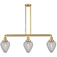 Innovations Lighting 213-SG-G165-LED Geneseo LED 38 inch Satin Gold Island Light Ceiling Light, Franklin Restoration